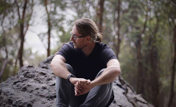 David during a recent mini film shooting on Mt Coolum on the value of Grace.