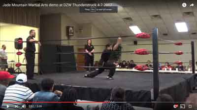 Jade Mountain Martial Arts Demo at DZ Wrestling
