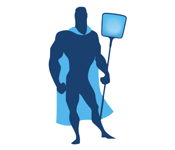 Blue pool service guy icon