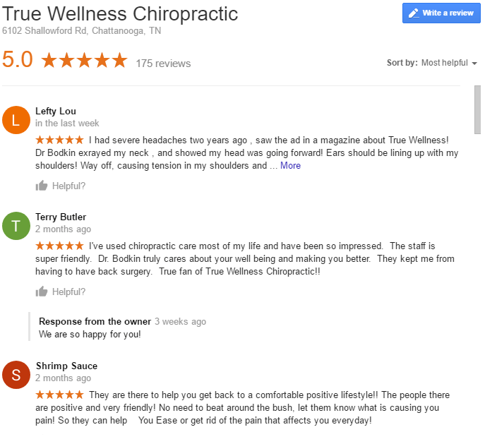 Chattanooga Chiropractor Reviews 1