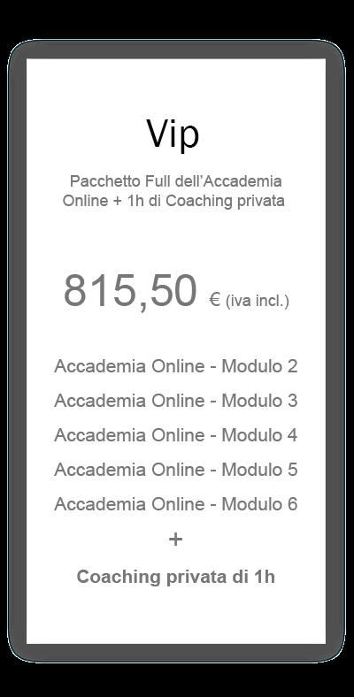prezzo pacchetto vip accademia online hair academy