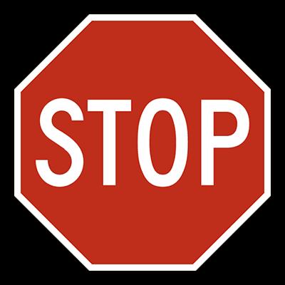 Bitcoin University Stop sign
