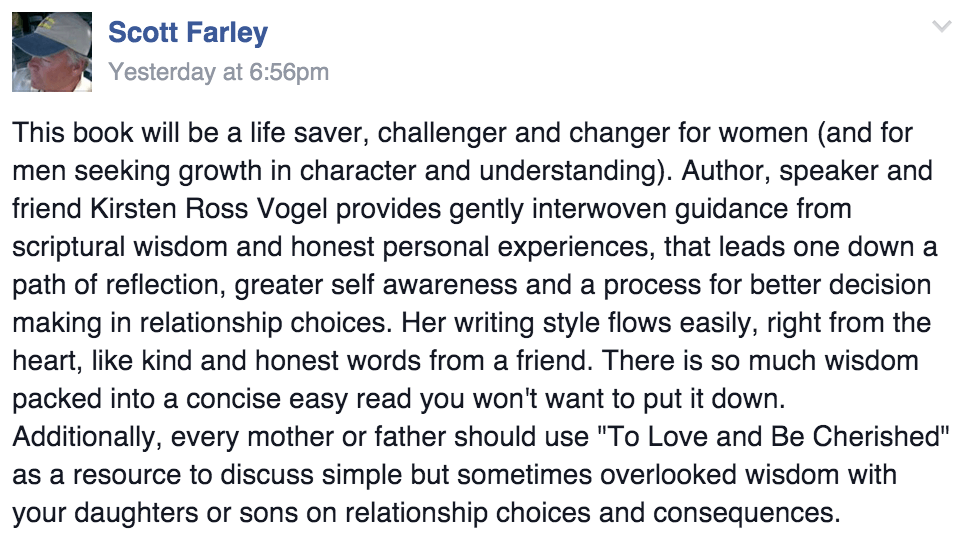 To Love and Be Cherished Book Review Scott Farley