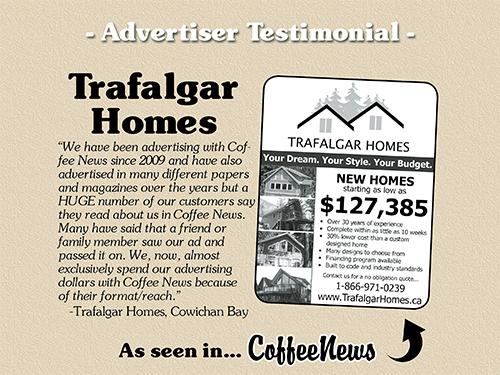 Trafalgar Homes testimonial in Coffee News
