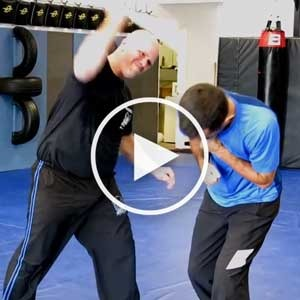 Larry Escher Demonstrating Krav Maga in Katy Stick Defenses