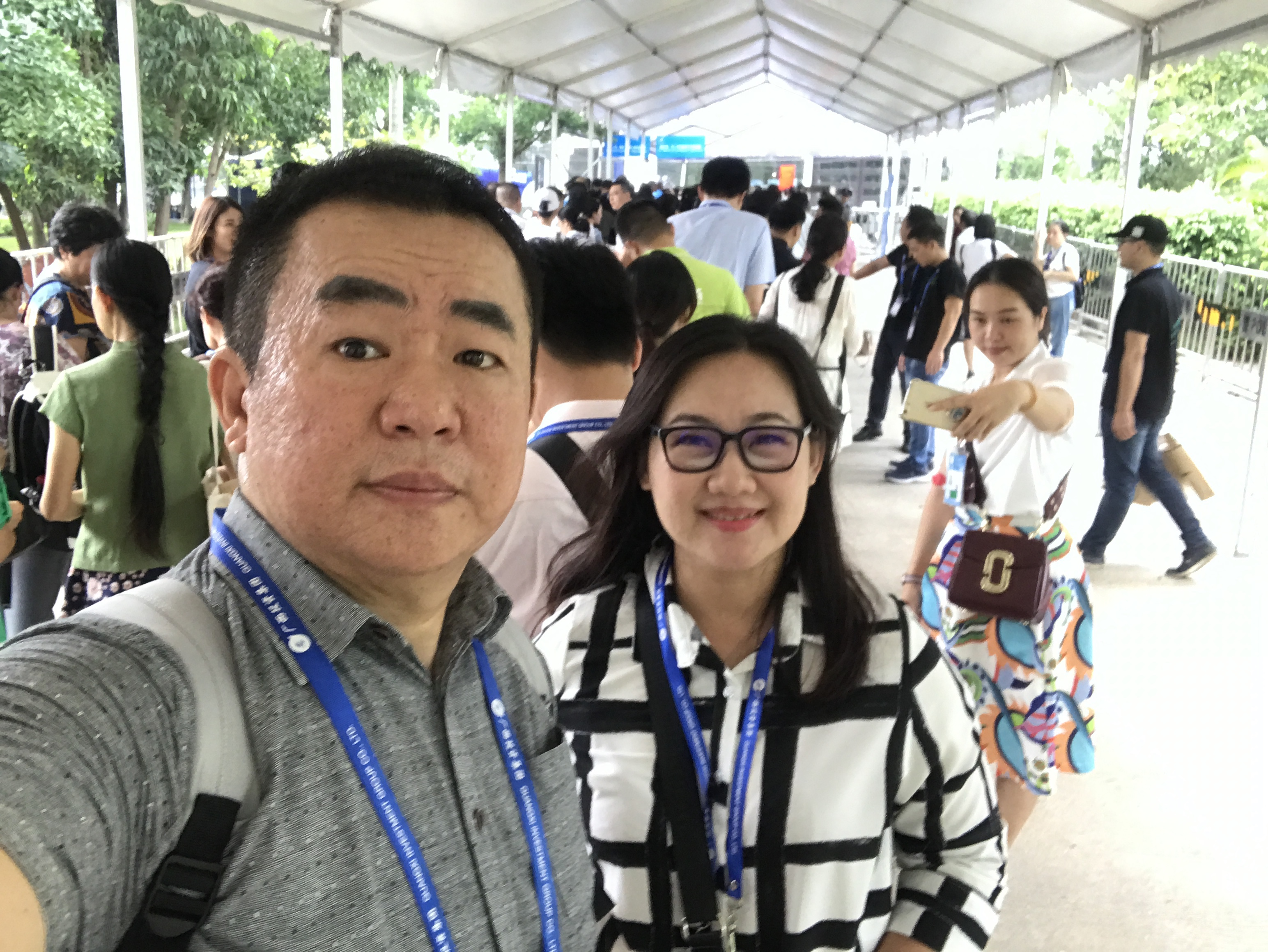 Michael and Stella at the recent CAEXPO 2017 in Nan Ning China