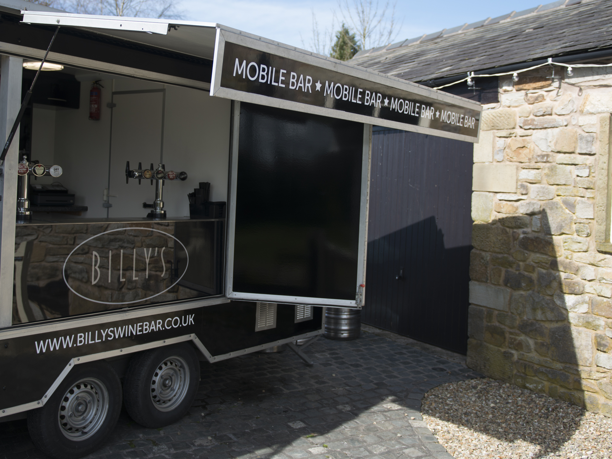 Billy's mobile bar.