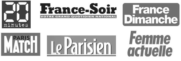 20 Minutes, France-Soir, Paris Match, Le Parisien, France Dimanche, Femme Actuelle