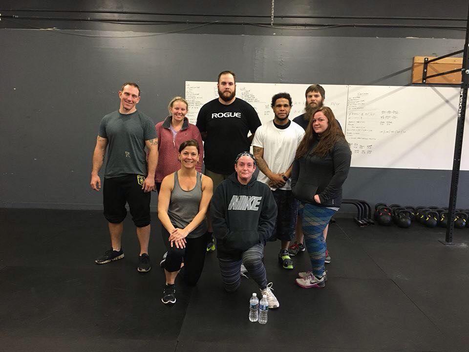 Parker Byrd and his Crossfit gym members
