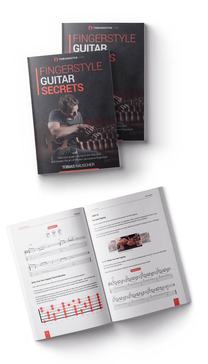 fingerstyle, guitar, secrets, book, rauscher,