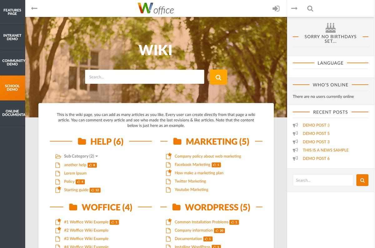 Wordpress Theme Office