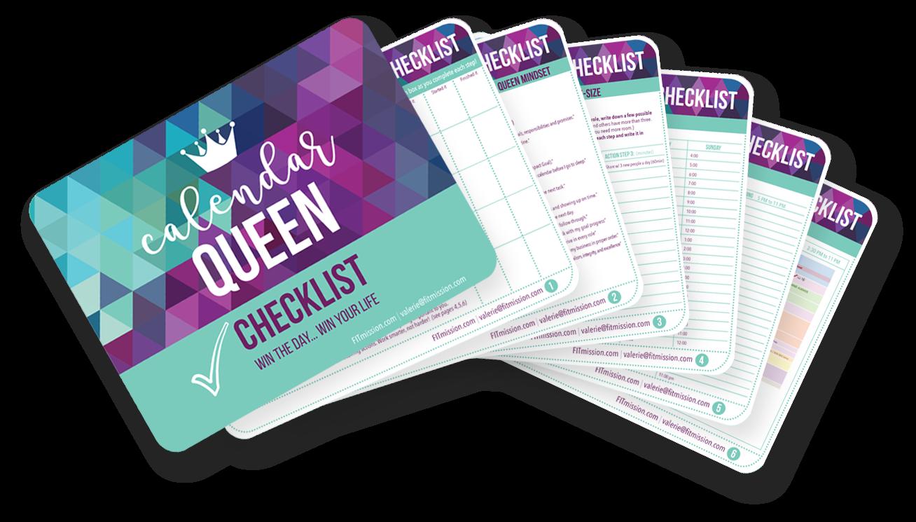 Calendar Queen Checklist