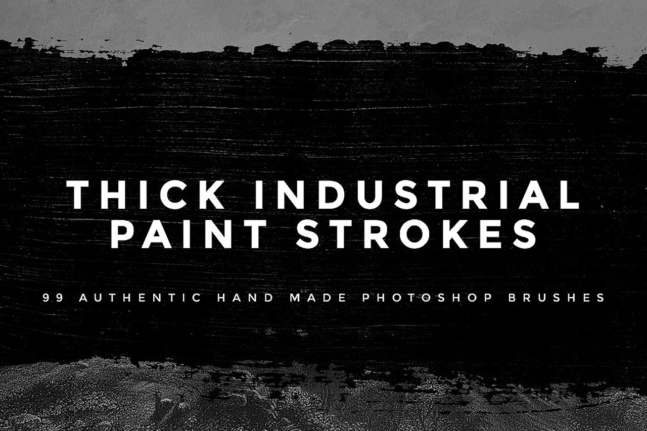 Thick Industrial Paint Strokes for Photoshop