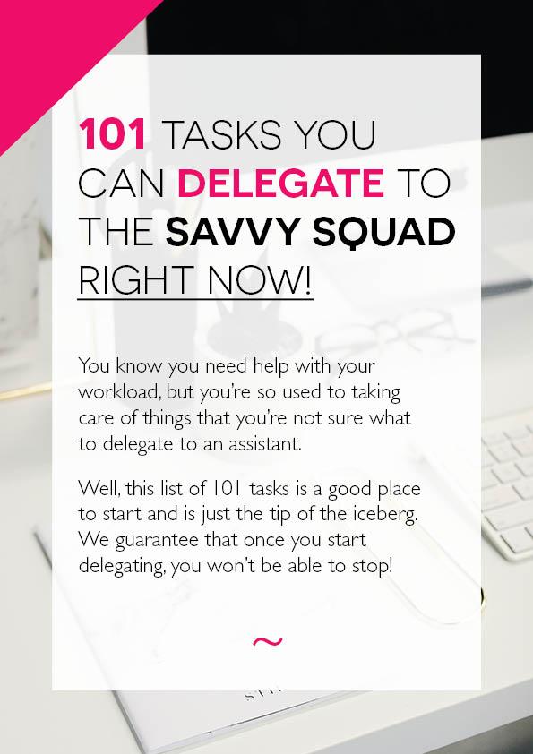 101 Tasks To Delegate