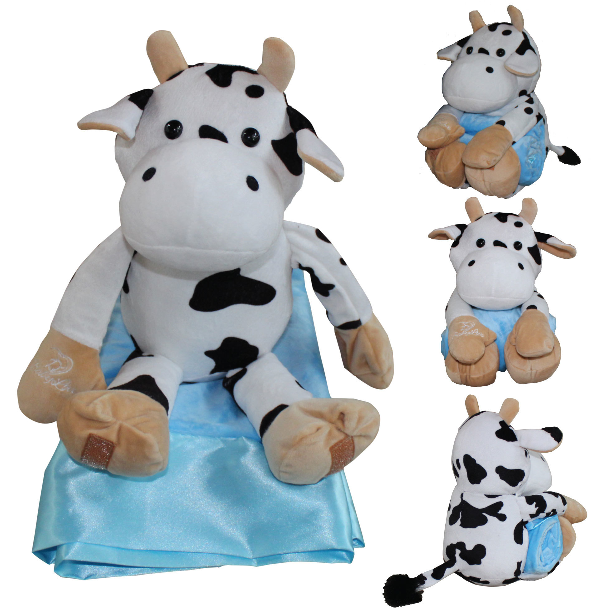 Cow With Blue Blanket
